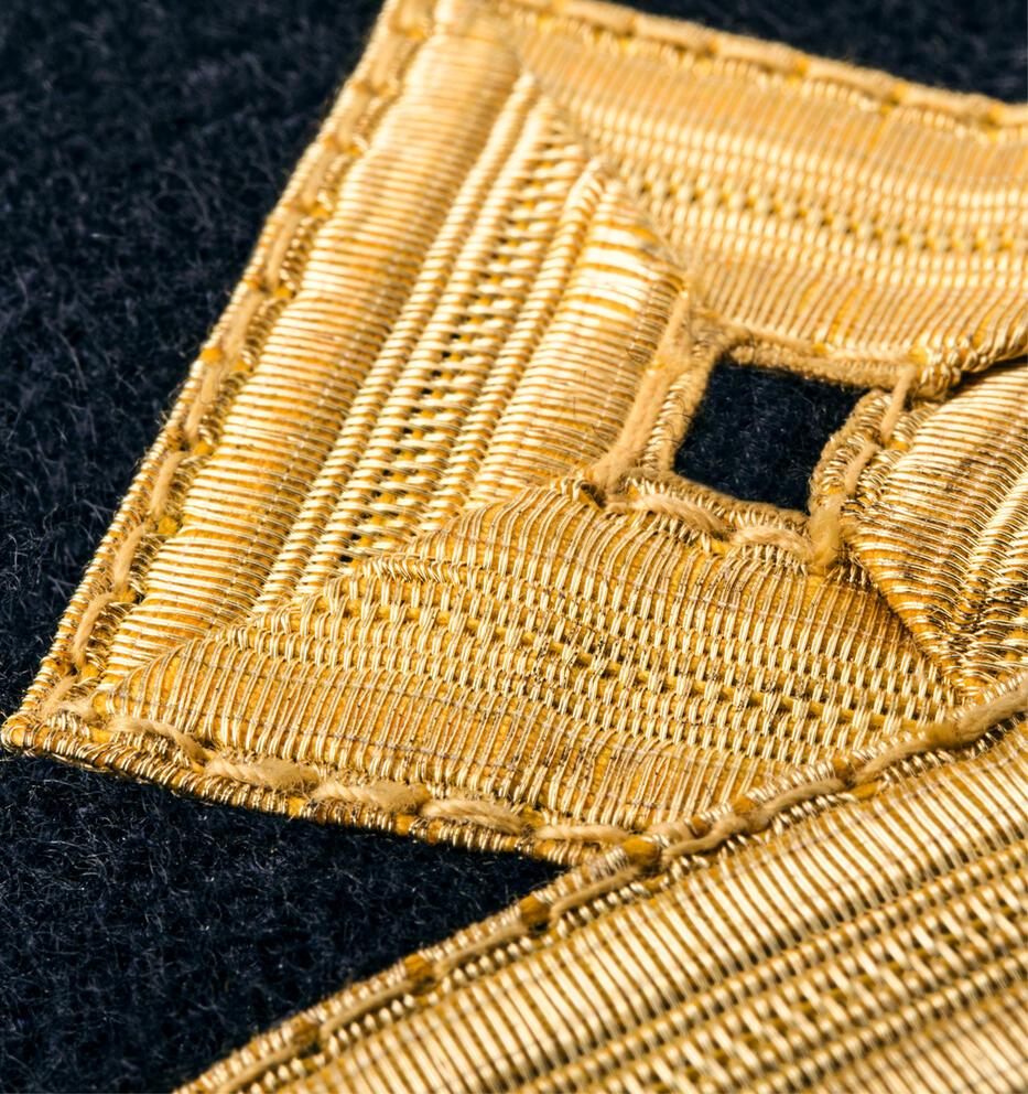 ScanEpaulets 4 gold stripes & diamond