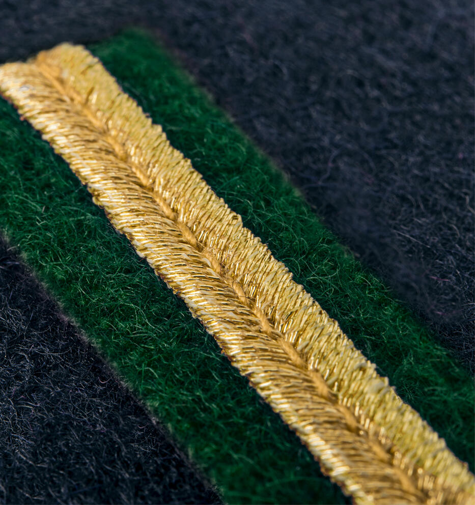 ScanEpaulets 1 gold stripe vertical w/green